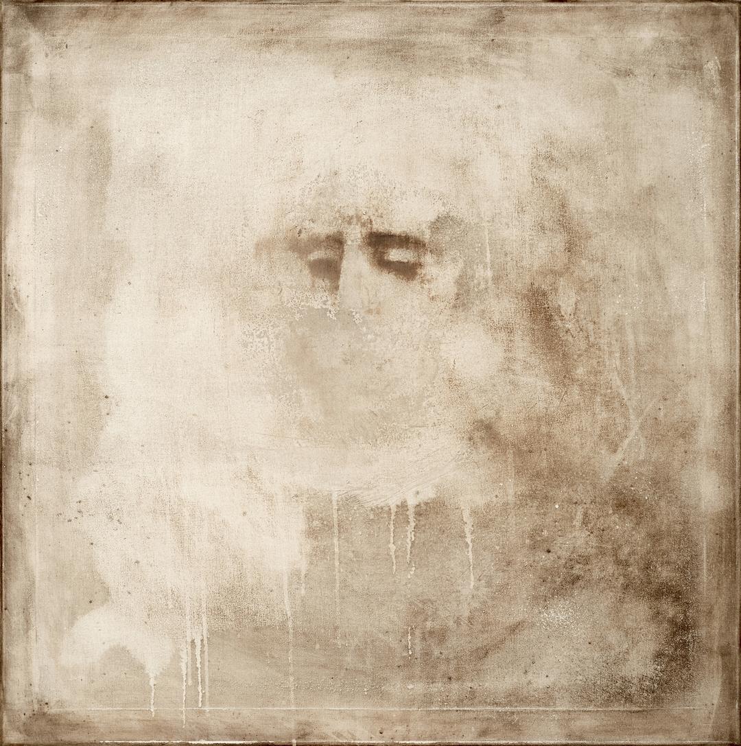 """""""Pneuma"""", acrylics on canvas, 79X79 cm, 2017."""