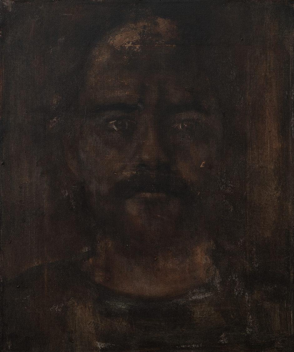 """Apostolis"", 2019, acrylics on canvas, 30X25 cm."