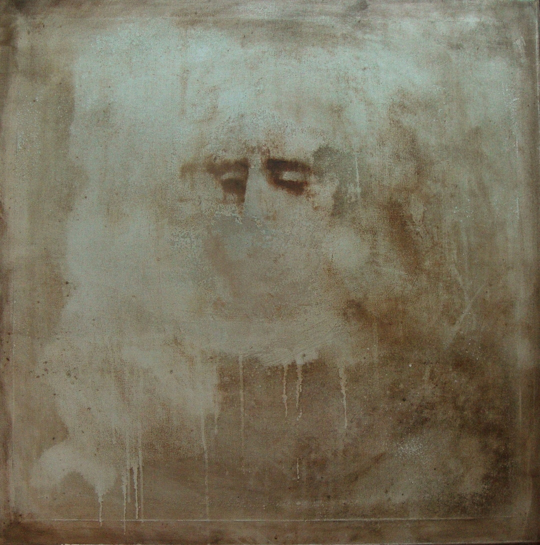 """""""Pneuma7"""", acrylics on canvas, 79X79 cm, 2017."""